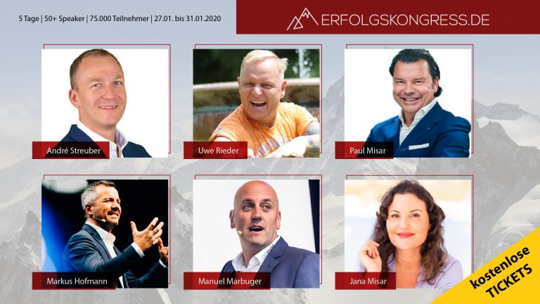 GRATIS-Tickets für den ONLINE-Erfolgskongress 2020 (Normalerweise 99 Euro!)