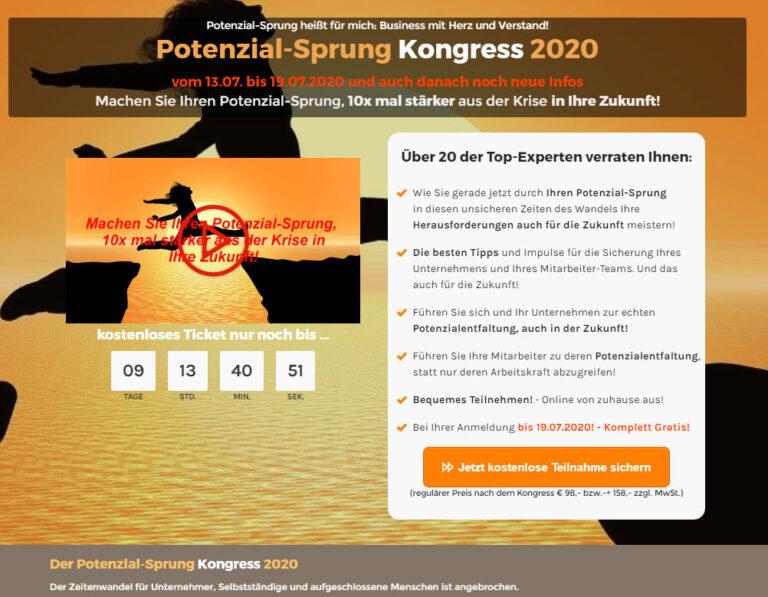 TOP: Potenzial-Sprung Kongress 2020 mit Uwe Rieder