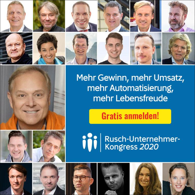 Rusch Verlag: Gratis 1 Ticket für den »Rusch-Unternehmer-Online-Kongress«