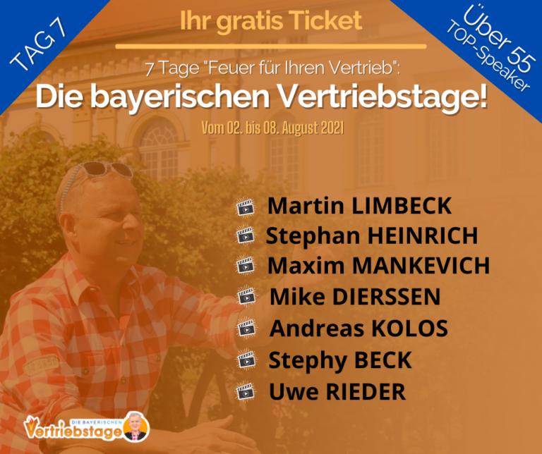 """""""Die bayerischen Vertriebstage"""" Tag 7: Uwe Rieder, der bayerische Vertriebsfreak"""