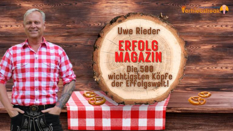 Uwe Rieder im ERFOLG Magazin bei den 500 wichtigsten Köpfen der Erfolgswelt!