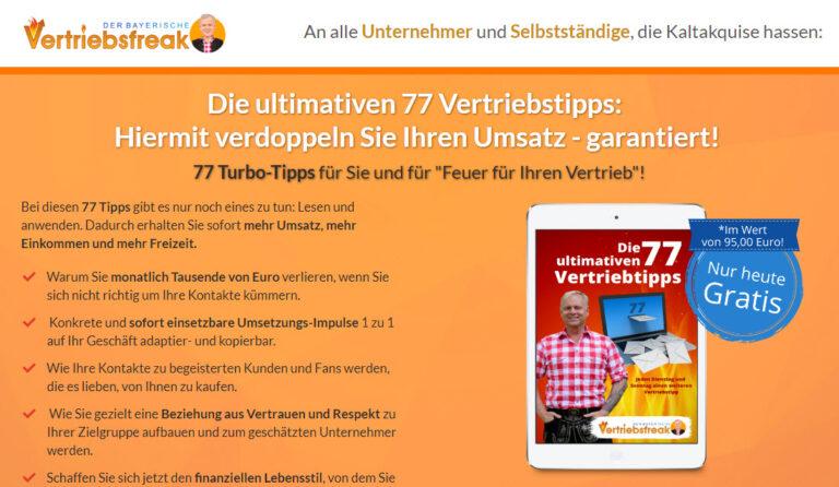 [GRATIS] Die 77 Vertriebstipps zur Neukundengewinnung!
