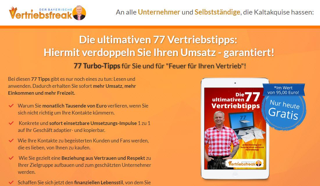 77 Vertriebstipps